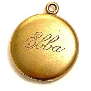 Edwardian Gold Locket EBBA Antique